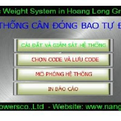 Tích hợp điều khiển HMI hệ thống cân tự động
